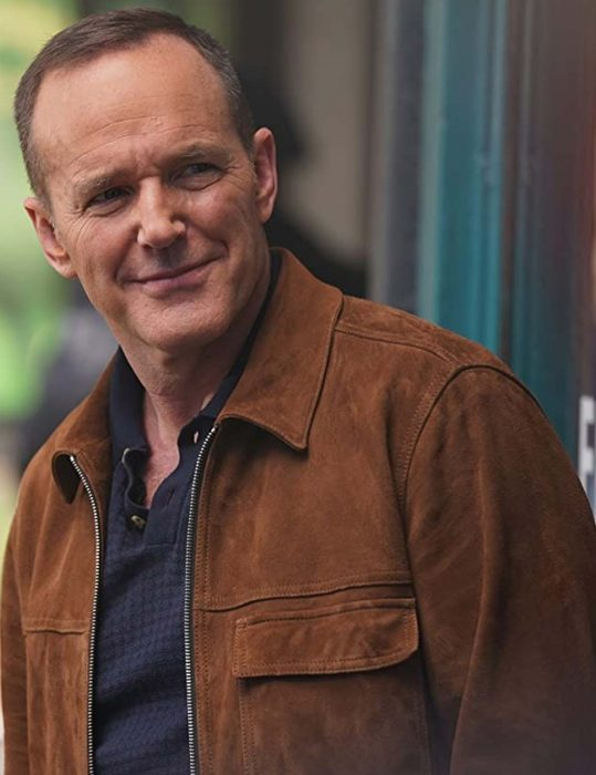 agents of shield season 07 clark gregg brown leather jacket
