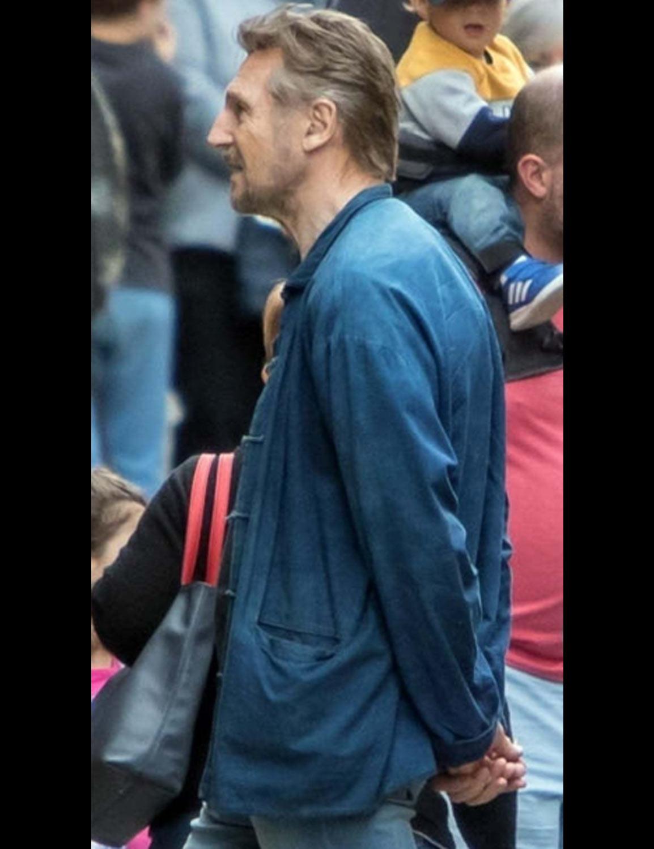Made In Italy Liam Neeson Jacket | Robert Satin Jacket