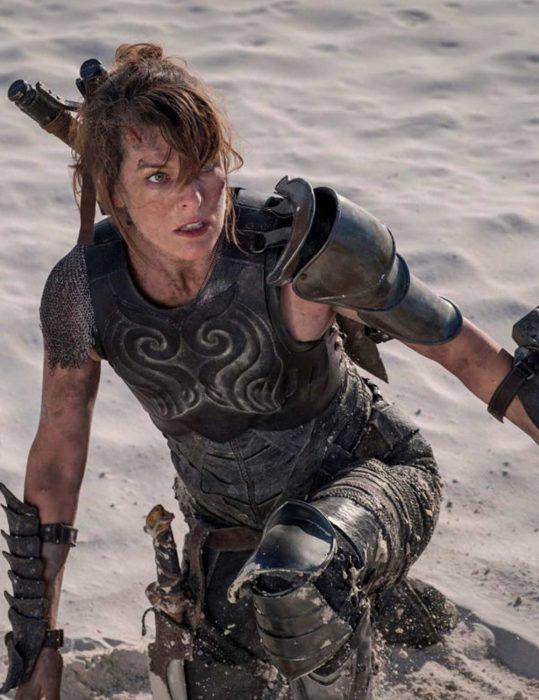 monster hunter milla jovovich leather vest
