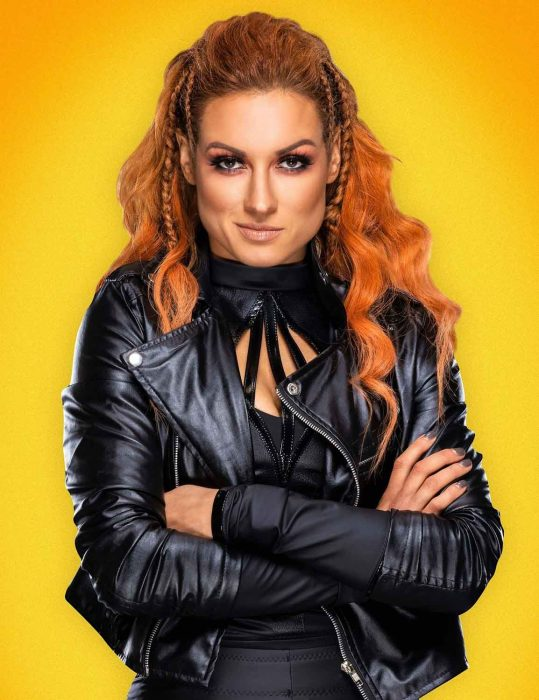 rebecca quin wwe superstar becky lynch leather jacket