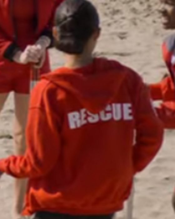 Breanna Yde Malibu Rescue The Next Wave Gina Red Hoodie