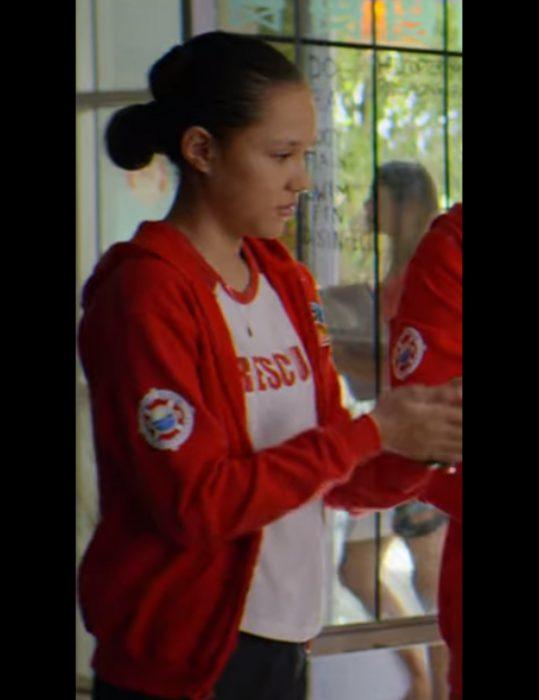 Breanna Yde Malibu Rescue The Next Wave Gina Rescue Red Hoodie