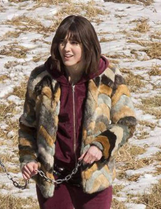 Mary Ekizabeth Winstead Fur Jacket
