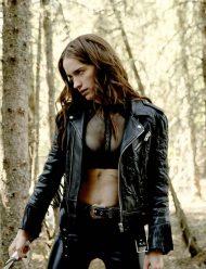 Melanie Scrofano Wynonna Earp Season 4 Black Leather Jacket