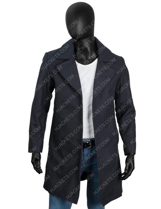 Resident Evil 8 Chris Redfield Black Wool Coat