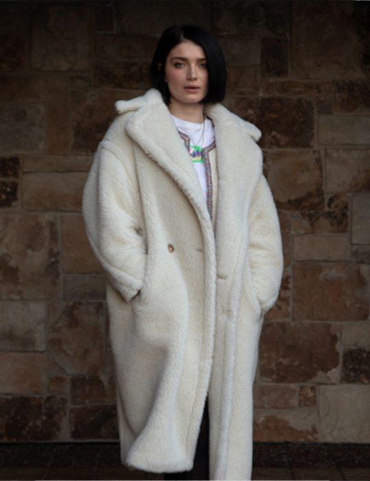 anne morgan sundance 2020 tesla eve hewson fur coat