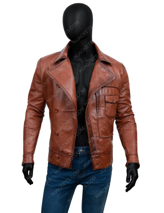 leonardo dicaprio the aviator howard hughes leather jacket