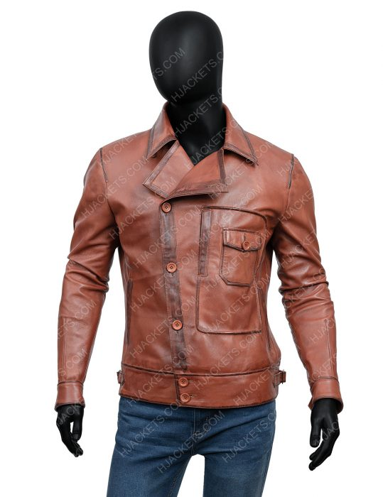 leonardo dicaprio the aviator leather jacket