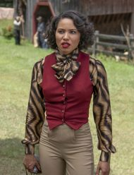 lovecraft country letitia 'leti' lewis red vest