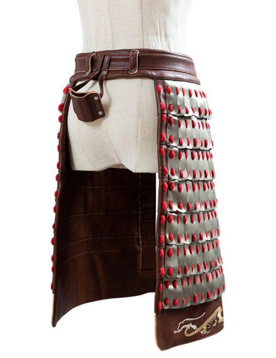 mulan yifei liu hua mulan cosplay coat with corset belt armor