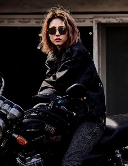 sf8 yeon-hee lee black leather jacket