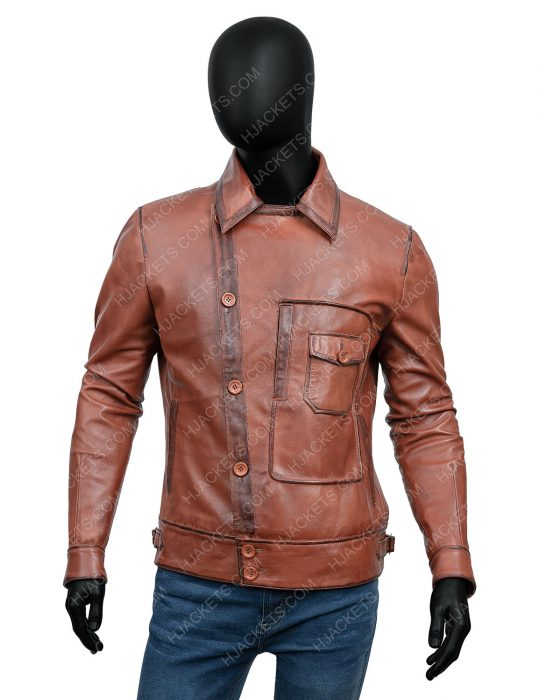 the aviator howard hughes leather jacket