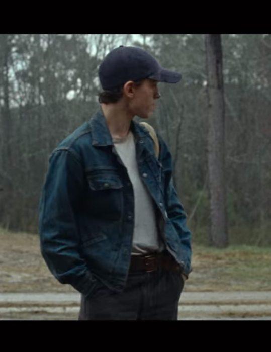 the-devil-all-the-time-tom-holland-blue-denim-jacket