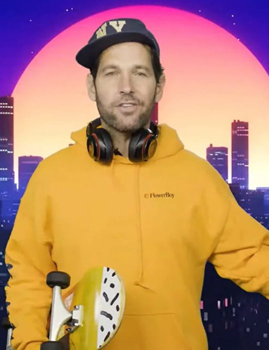 A Message From Paul Rudd About Masks Yellow Hoodie