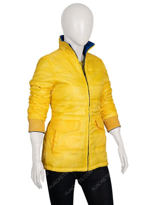 American Singer Billie Eilish 2 Side Yellow Puffer Jacket