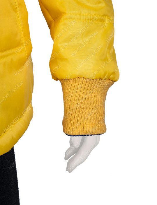 American Singer Billie Eilish 2 Side Yellow and Blue Puffer Jacket