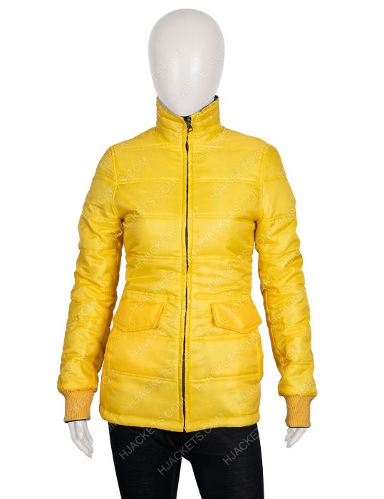 Billie Eilish Yellow Puffer Jacket