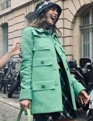 Emily In Paris Lily Collins Multi-Pocket Coat