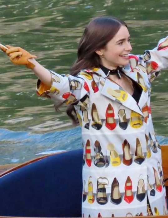 Emily in Paris Lilly Collins Trench Coat