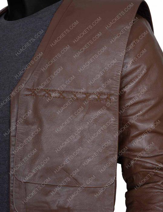 Gustaf Skarsgard Cursed Merlin Brown Coat