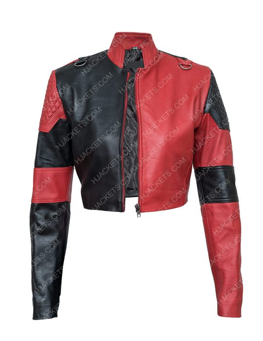 Harley Quinn The Suicide Squad Leather Cropped Jacket
