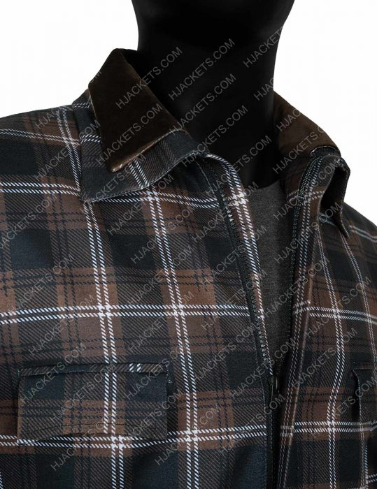 Kevin Costner Yellowstone S02 John Dutton Plaid Jacket