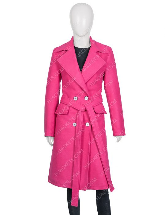 Lily Collins Emily in Paris Emily Cooper Pink Coat