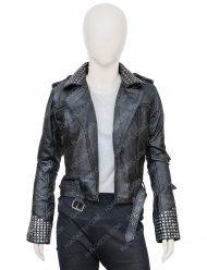 Macarena Ferreiro Vis a Vis El Oasis Leather Jacket