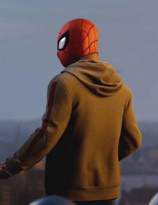 Marvel-Spider-Man--Miles-Morales-Brown-Zipper-Hoodie
