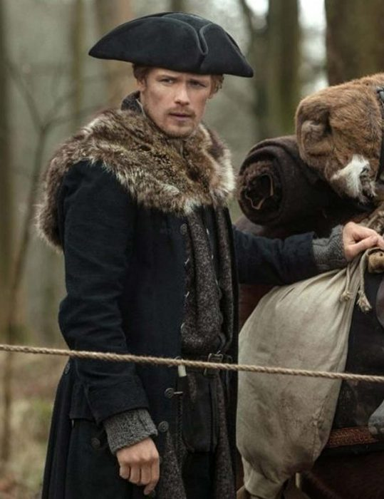 Outlander S04 Sam Heughan Fur Coat