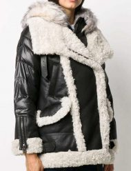 Samantha-Shearling-Black-Padded-Jacket