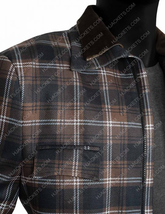 Yellowstone S02 Kevin Costner Plaid Jacket