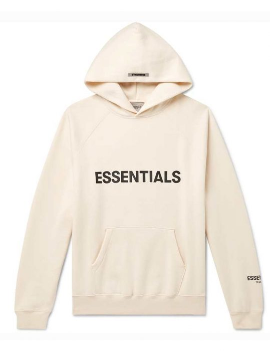 fear of god esentials hoodie