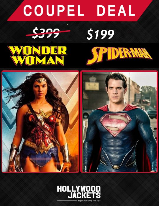 hallowee couple deals wonder woman & superman jacket