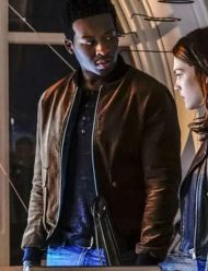 Brandon Micheal Hall God Friended Me bomber jacket