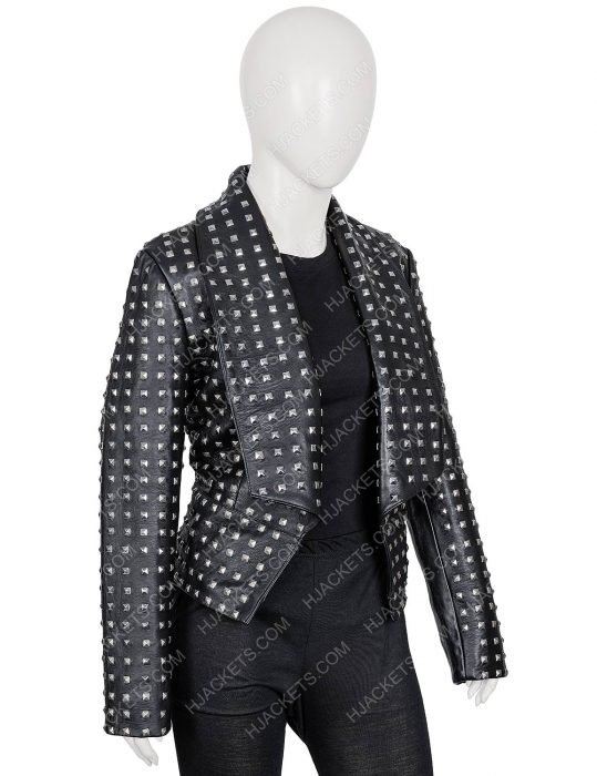 rhobh kyle richards black leather jacket