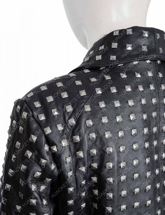 rhobh kyle richards studded black jacket