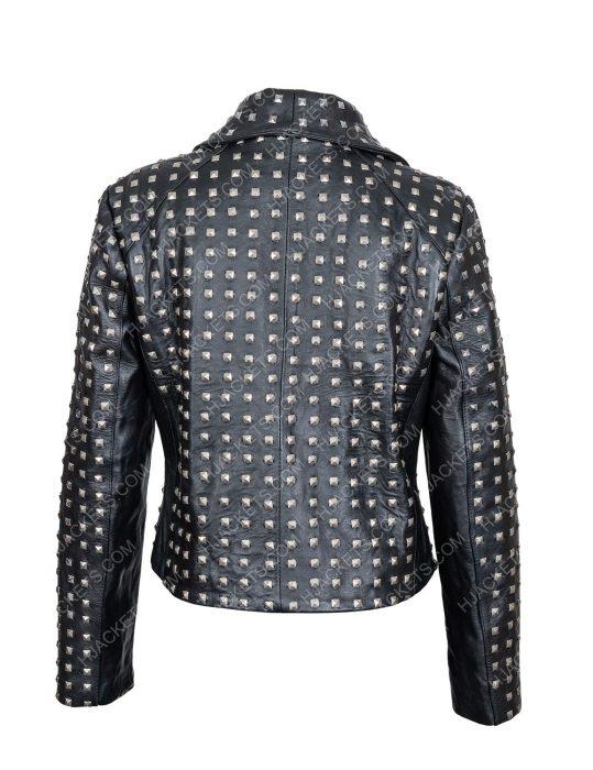 rhobh kyle richards studded leather jacket