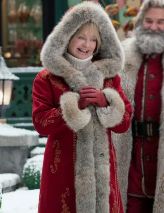 the christmas chronicles 2 goldie hawn mrs. santa coat