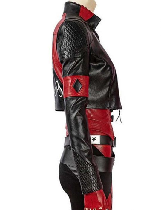 the-suicide-squad-harley-quinn-red-&-black-leather-jacket