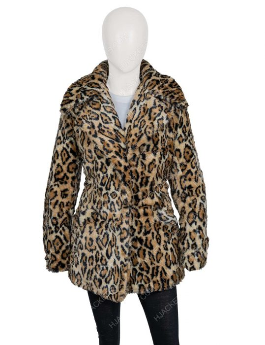 yellowstone s02 beth dutton leopard print coat