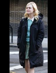 A Rainy Day in New York Elle Fanning Black Coat