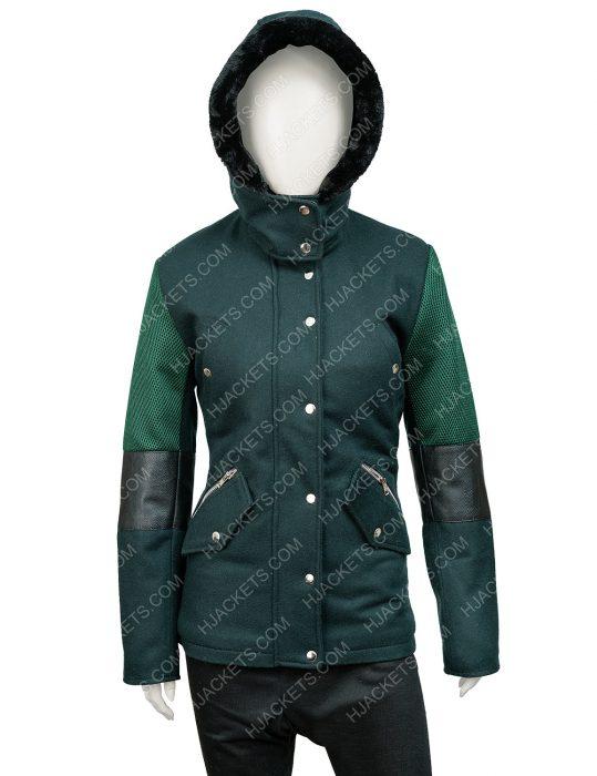 Amber Stevens West Christmas Unwrapped Charity Jones Hooded Coat
