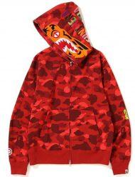 Bape-Red-Color-Hoodie
