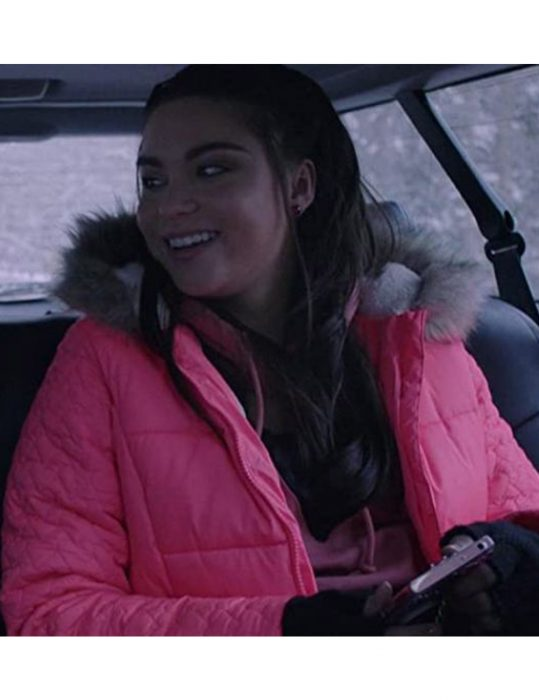 Devery-Jacobs-The-Lie-Britney-Pink-Hooded-Jacket