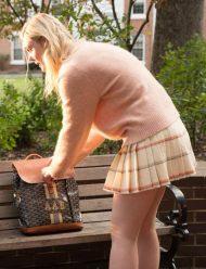 Elle-Fanning-Pink-Sweater