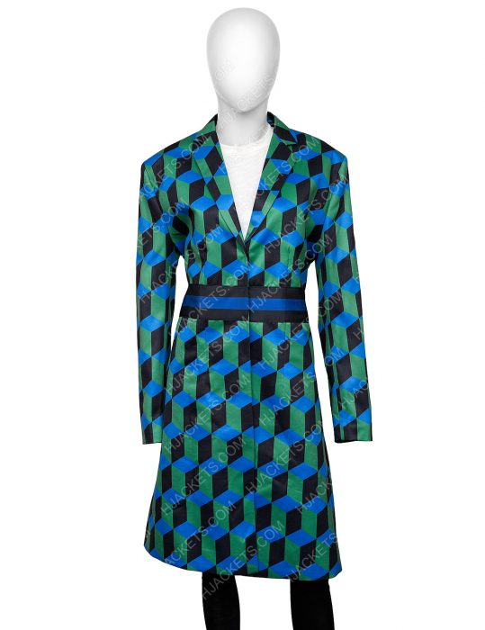 Katherine Ryan TV-Series The Duchess Checkered Coat