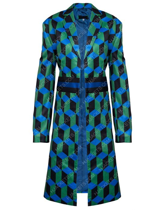 Katherine Ryan The Duchess Checkered Coat