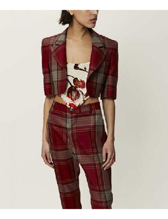 Lily-Ccllins-plaid-jacket