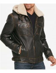 Mens-Brown-Waxed-Hooded-Aviator-Jacket.